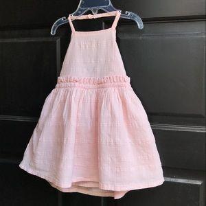 Old navy halter top light pink dress. 18-24 NWT